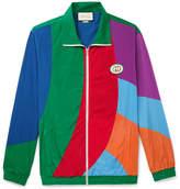 Gucci Logo-Appliqued Colour-Block Nylon Track Jacket