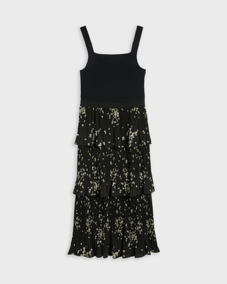 Ted Baker BETEE Elderflower tiered midi dress