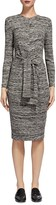 Whistles Ira Marled Tie Front Dress