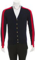 Alexander McQueen Bicolor Wool Cardigan