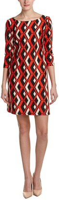 Taylor Dresses Women's Geo Print Scuba Shift Dress