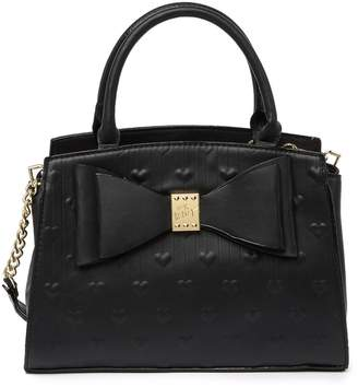 Betsey Johnson Embossed Heart Satchel