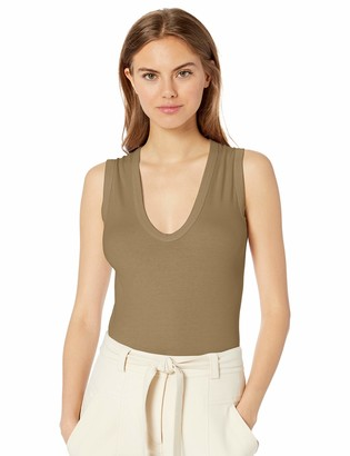 Enza Costa Women's Essential Supima Cotton Sleeveless U-Neck Top