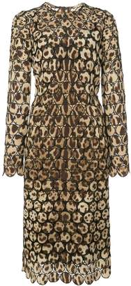 Dolce & Gabbana embroidered leopard print dress