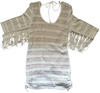 Spell & The Gypsy Collective White Cotton - elasthane Dress for Women