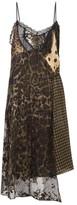 Preen by Thornton Bregazzi Leah Velvet And Lace-panel Slip Dress - Womens - Black Multi