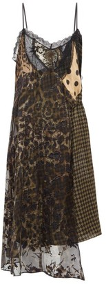 Preen by Thornton Bregazzi Leah Velvet And Lace-panel Slip Dress - Womens - Black Multi