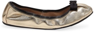 Salvatore Ferragamo My Joy Metallic Leather Ballet Flats