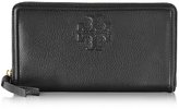Tory Burch Thea Pebbled Leather Multi Gusset Zip Continental Wallet