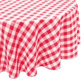 LinenTablecloth.com LinenTablecloth 70-Inch Round Polyester Tablecloth Red & White Checker