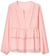 Gap Embroidered-trim peasant blouse
