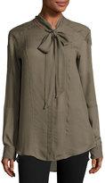 Belstaff Hammond Tie-Neck Shirt, Birch