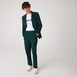 Lacoste Men's LIVE Standard Fit Cotton Canvas Suit Pants