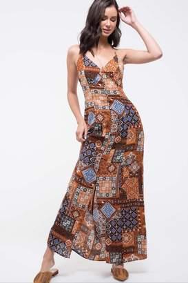 Blu Pepper Patchwork Maxi Dress