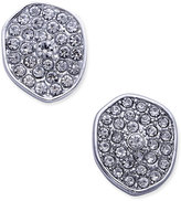 INC International Concepts Silver-Tone Pavé Irregular Disc Button Stud Earrings, Only at Macy's