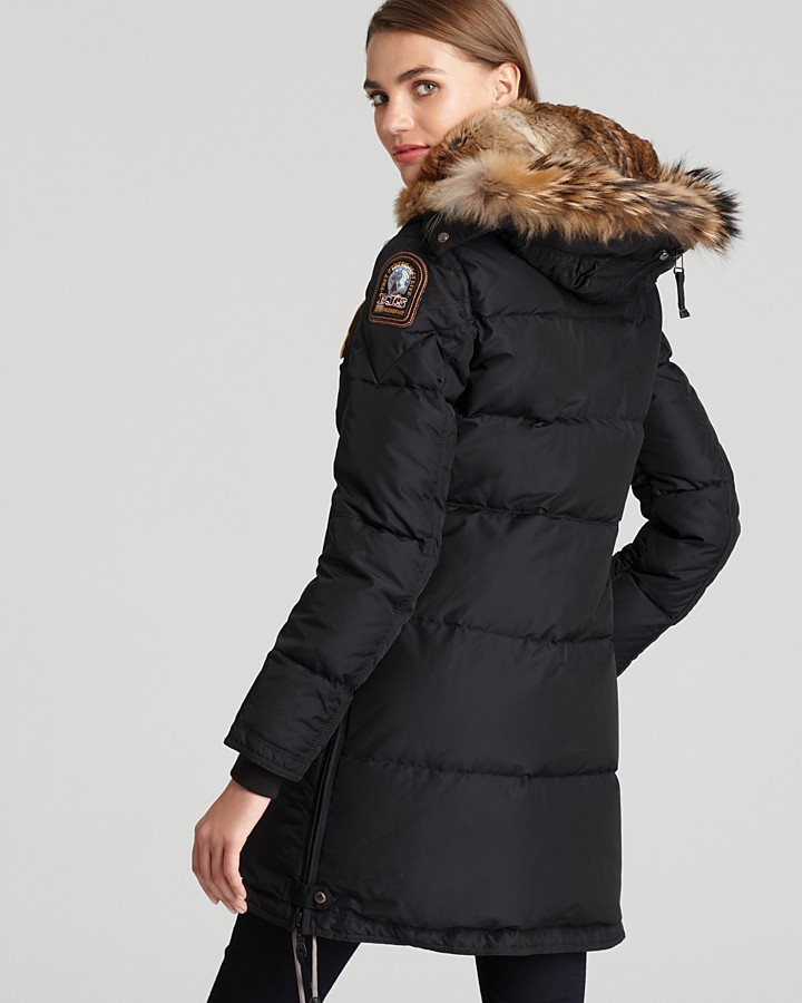 Parajumpers Long Bear Down Coat with Fur Hood