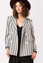 Stripe Wool Coat