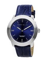Perry Ellis Slim Line Navy Leather Watch