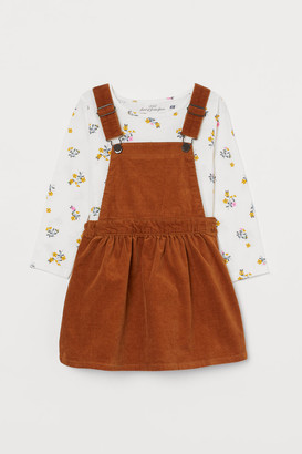 H&M Dungaree dress and top