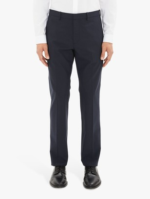 Theory Stretch Wool Tailored Suit Trousers, Navy