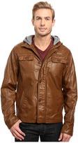 English Laundry PU Leather Jacket w/ Fleece Hood