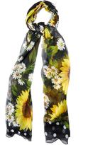 Dolce & Gabbana Sunflower-print silk-crepe scarf