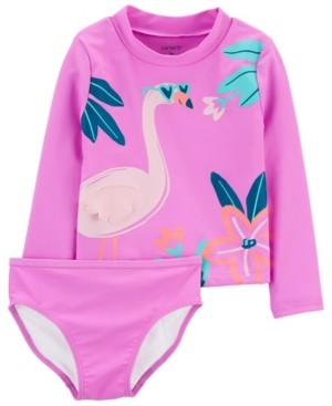 Carter's Baby Girl Flamingo Rashguard Set