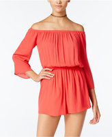 One Clothing Juniors' Off-the-Shoulder Romper