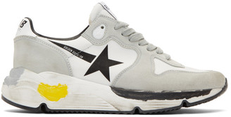 Golden Goose Grey Running Sole Sneakers