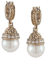 Carolee 40th Anniversary Pearl Drop Hoop
