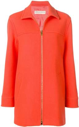 Emilio Pucci Zipped Virgin Wool Coat