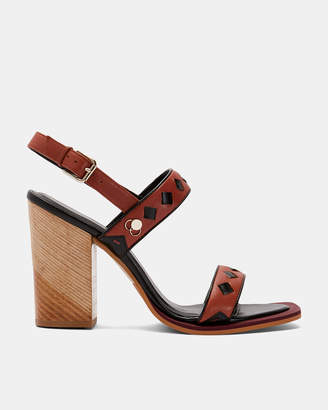 Ted Baker MARTAUS Leather block heel sandals