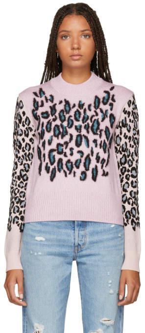 Kenzo Pink Leopard Comfort Sweater