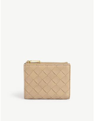 Bottega Veneta Intrecciato weave leather continental wallet