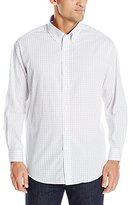 Nautica Men's Check Shirt with Button Down Collar with White Check