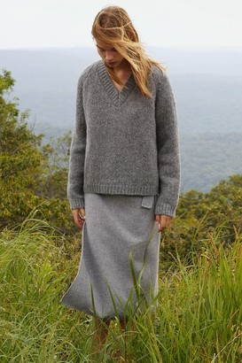 Mansur Gavriel Alpaca Wool V-Neck Sweater - Grey