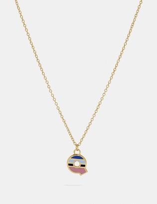 Coach 80'S Retro Alphabet Q Charm Necklace