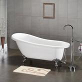 "Cambridge Plumbing 61.75"" x 31"" Claw Foot Slipper Soaking Bathtub Leg"