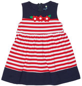 Florence Eiseman Sleeveless Striped Stretch Jersey Dress, Blue/Red, Size 2-6