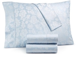 Fairfield Square Collection 1000-Thread Count 4-Pc. California King Floral Jacquard Sateen Sheet Set Bedding