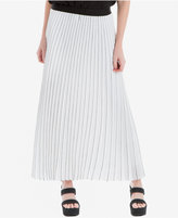Max Studio London Pinstripe Pleated Maxi Skirt