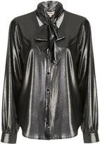 L'Agence Gisele neck-tie silk blouse
