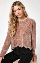 La Hearts Chenille Pullover Sweater