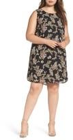 Daniel Rainn Plus Size Women's Pleated Back Dress