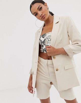 ASOS DESIGN city suit blazer in stone