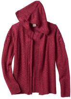 Mudd Girls 7-16 Crochet Hooded Cardigan