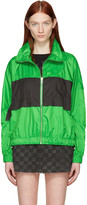 Kenzo Green Colorblocked Logo Jacket