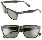 Smith Optics Women's 'Tioga' 57Mm Polarized Sunglasses - Matte Black/ Polar Gray Green