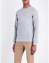 OFFICINE GENERALE Crewneck cotton-jersey jumper