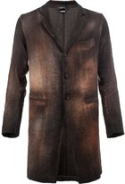 Avant Toi buttoned coat - men - Cotton/Linen/Flax/Polyamide/Cashmere - M